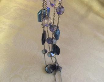 """Lia Sophia blues 48"""" Chain Necklace"""
