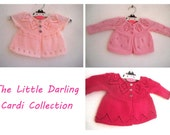 The Little Darling Cardi Collection - Knitting Pattern E-Book - Baby girl to age 6 cardigan - Instant Download PDF