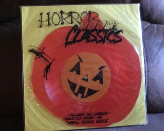 Horror Rock Classics Halloween 45rpm Picutre Disc Vinyl Record Purple People Eater pumpkin