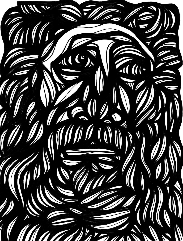 zeus greek mythology classic art black and white by 631art