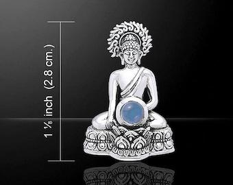 Sitting Buddha Pendant (Sterling Silver)