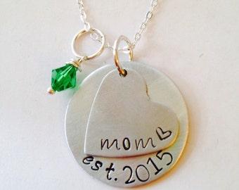 Mom Birthstone Necklace,Mom Necklace - Birthstone Necklace - Mothers Necklace - Personalized Necklace - Gift for Grandma -  - Kids Names