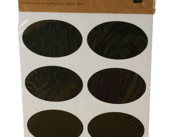 """18 Oval Chalkboard Label Stickers, 2.9"""" x 2"""""""