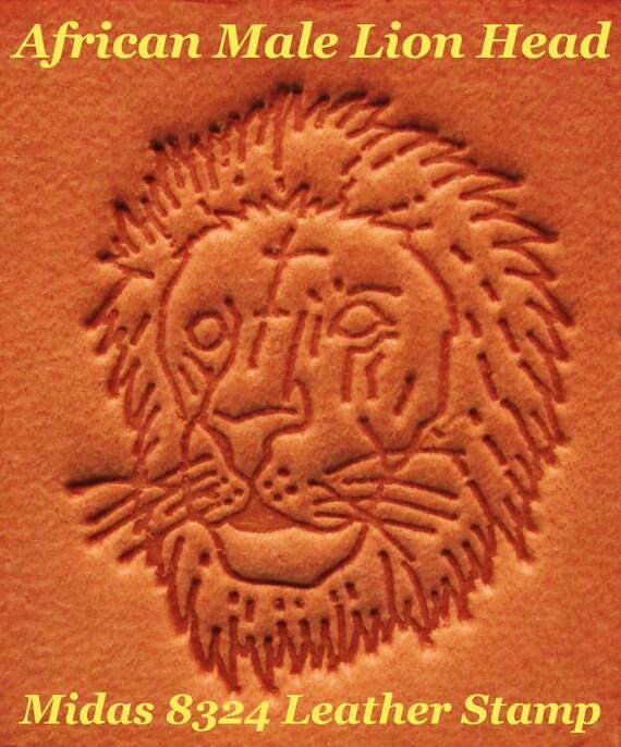 Vintage Midas 8324 African Male Lion Head 1 Leather