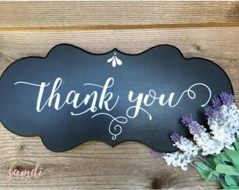 Thank you / Wedding Chalkboard/ Photo booth/wedding sign/ chalkboard sign/ home decor/ Signature board/ Hello Dolly/ Samdi (1)
