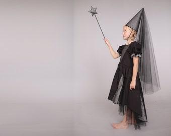 Halloween Night Queen costume, Halloween costume, halloween dress,  princess costume,  Halloween costume children girl, kids fairy costume