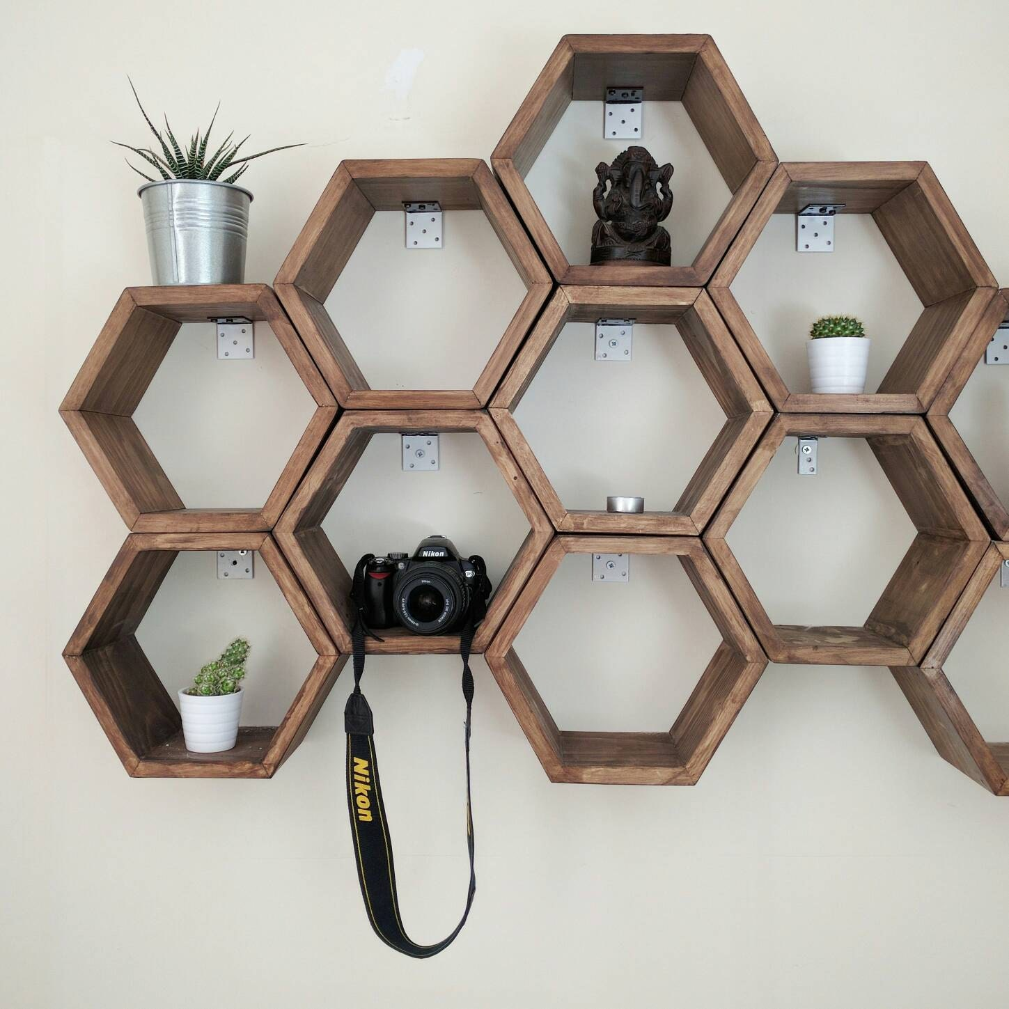 Honeycomb Hexagon Shelves Handmade In The Uk Pine Wood