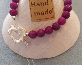 Lovely ladies handmade toggle clasp bracelet