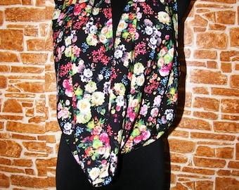 gentle delicate silk flower scarf
