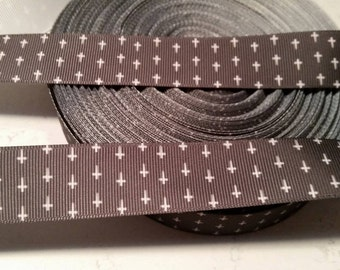 Occult Grosgrain ribbon, Inverted Cross grossgrain ribbon