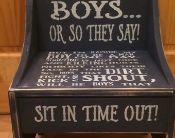 Boys Timeout Chair