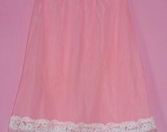 Vintage 1950's-60's Deadstock Cute Pink Slip - Sz S-M