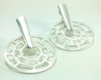Earrings: WHEEL Silver plated