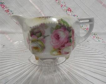 Vintage floral creamer