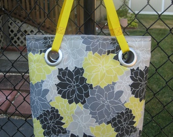 Large/Multicolor/Grey/White/Yellow/Black/Beach Bag/Work Tote Bag