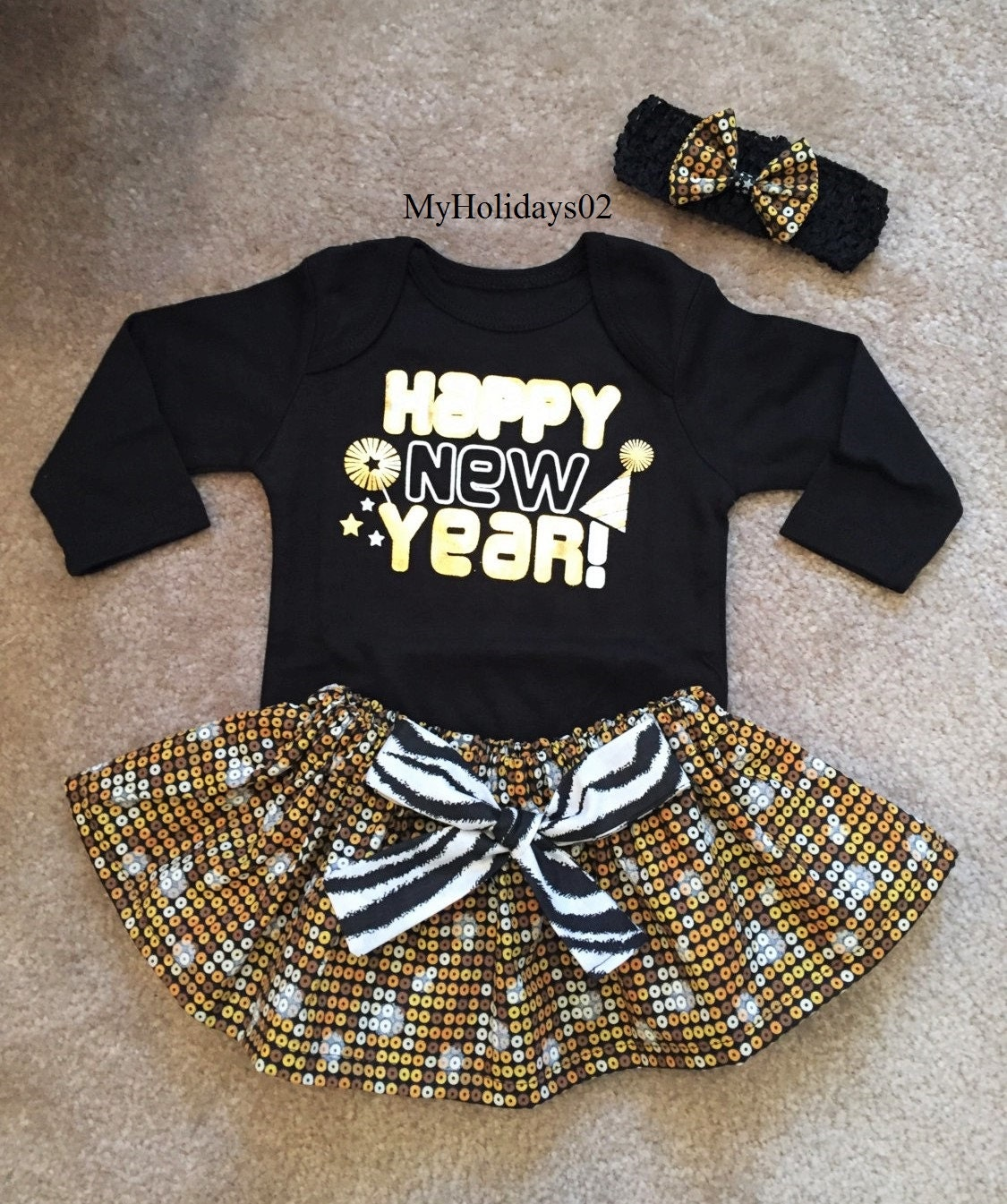 e64bc4791a39f new years outfit baby girl 1st holiday sister dress up tutu skirt optional  headband bow my