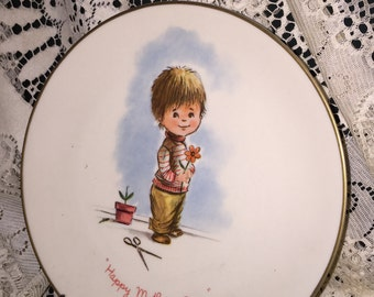 Gorham Fine China Presents: Moppets Plate, First of a Limited Annual Edition, Mothers Day 1973; Highly Collectible Vintage Moppets; Fran Mar