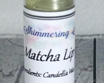 Matcha Lip Balm, Green Tea Lip Balm, Unsweetened Lip Balm, Natural Lip Balm, Vegan Lip Balm, .15 oz Lip Balm