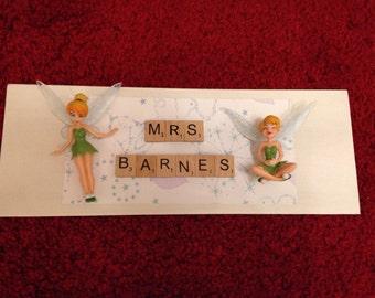 Personalised door names - Teacher (with embellishments)