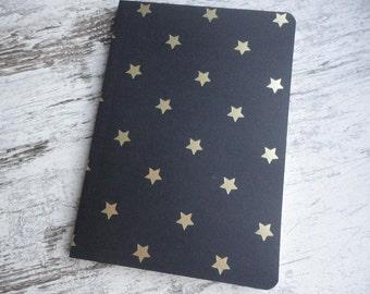 "Notebook ""black/gold stars"""