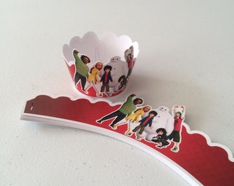 Big Hero 6 Cupcake Wrapper with 12 PC party