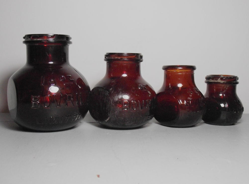 Oz Bovril Glass Jar