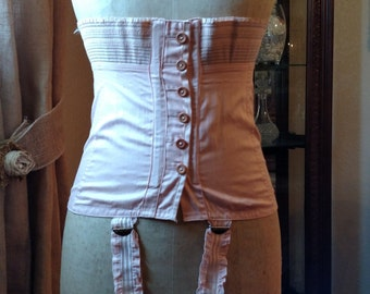 SALE NOW 42.50 Vintage corset lace up and buttons