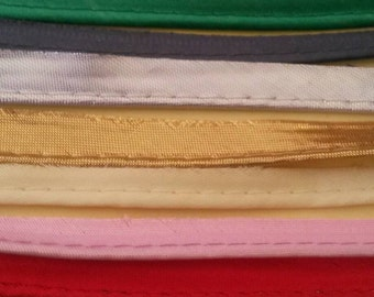 2 Yards Gold Blue Pink Red Purple White Black Gray Yellow Green Silver Lace Trim Piping 1/2 Inch Wide