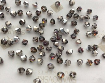 Vintage Swarovski #5301 Crystal Volcano Bicone Faceted Beads 4mm 6mm