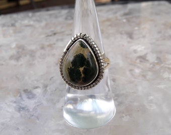 ocean jasper 925 sterling silver ring size 7.25
