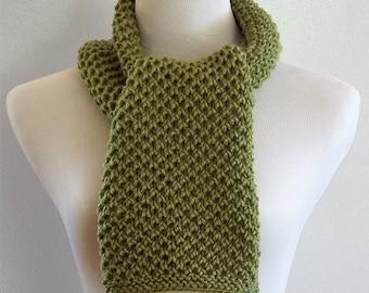Olive Green Scarf, Kelly Green Scarf, Womens Accessories, Fern Green Scarf, Winter Wear,  Neckwarmer,  Womans Green Scarf