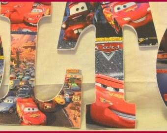 Disney Pixars Cars inspired Wood Letters