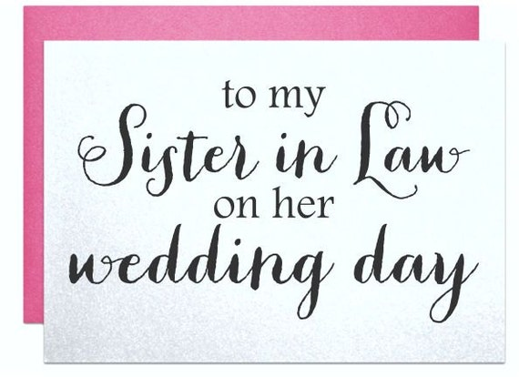 Wedding card to new sister in law, for bridal shower cards sister ...