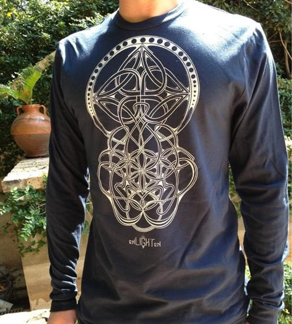 trinity sacred geometry longsleeve by enlighten clothing