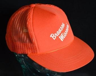 Retro Red/Orange BRANSON MISSOURI Snapback Baseball Cap Hat (One Size Fits All)