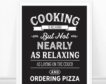 Kitchen wall art, Kitchen Typography Print, Kitchen Art, Cooking Quote, Funny Kitchen Sign, Black and White, Kitchen Print