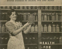 Vintage 1943 WWII Home Canning Guide Health For Victory Westinghouse Electric Canning Booklet