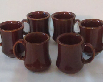 6 Vintage Crestware Restaurant Quality 8 oz Coffee Mugs