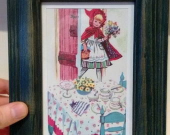 framed vintage illustration