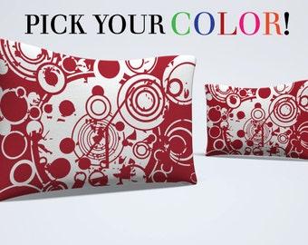 Pillow Sham, Abstract Pillow, Pattern Bed Pillow, Pattern Pillowcase, Boho Sham, Circle Pillowcase, Modern Sham, Standard Size Pillow