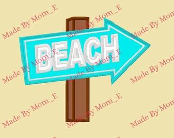Beach Sign Applique & Fill