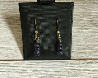 Genuine Saphire Earrings