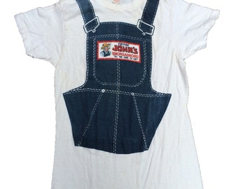 Vintage 70s farmer johns smorgasbord shirt