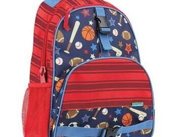 Monogrammed Stephen Joseph All Over Sports Backpack - Personalized Bookbag