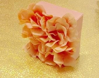 3D Light Pink Flower Accent Canvas