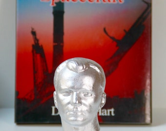 Yuri Gagarin bust - made in USSR - bust of Juri Gagarin.