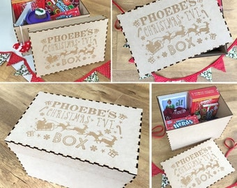 Personalised Large Christmas Eve Box - Xmas Treats Gift Box