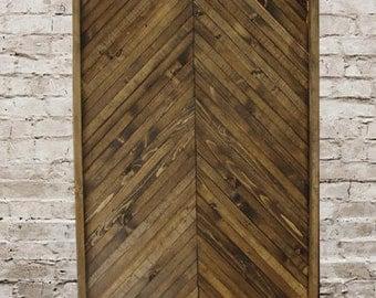 Chevron Style Rustic Wall Art Handmade Of 100% Reclaimed Wood, Wall Art,  Wood Wall Art,  Wooden Wall Art