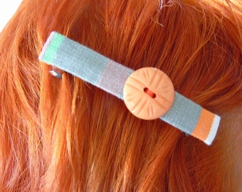 Handmade Hair Slide ~ Bright, button detail, hair slide, hair accessory, children's clip