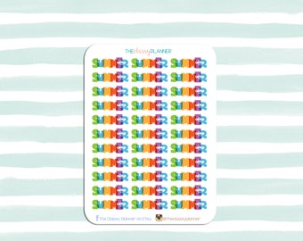 Summer Camp Stickers for your planner